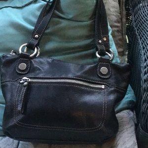 Super cute Fossil black leather shoulder bag